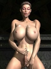 Dirty futanari masturbation close-up on xxx gallery
