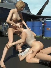 3d futanari sex the night in an army garrison